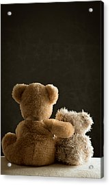 Two Teddy Bears Acrylic Print by Amanda Elwell