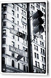Two Times Wall St. Acrylic Print by John Rizzuto