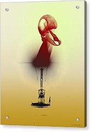 Two-toned Smoke Skull Acrylic Print by Alexandra  Rampolla