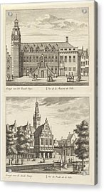Two Views In Alkmaar With The City Hall And De Waag Acrylic Print