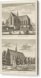 Two Views In Alkmaar With The Great Church And The Chapel Acrylic Print