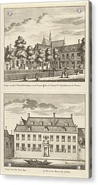 Two Views In Alkmaar With The Orphanage And The St Acrylic Print