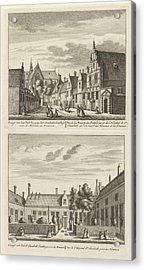 Two Views In Alkmaar With The Plague House And St Elisabeth Acrylic Print