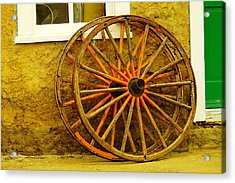 Two Wagon Wheels Acrylic Print by Jeff Swan