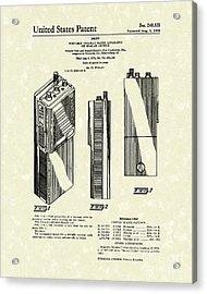Two-way Radio 1976 Patent Art Acrylic Print