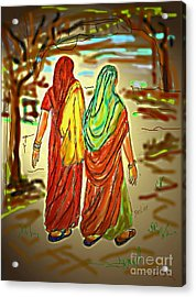 Two Women Acrylic Print