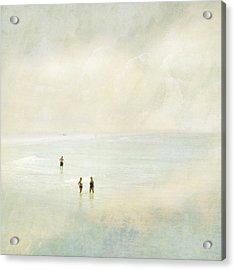 Two Women One Man Acrylic Print by Karen Lynch