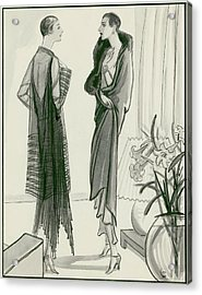 Two Women Wearing Wraps Acrylic Print by Porter Woodruff