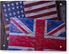 Two Wooden Flags Acrylic Print