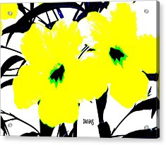 Two Yellow Jacks W Logo Acrylic Print