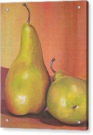 Two Yellow Pears Blenda Studio Acrylic Print by Blenda Studio