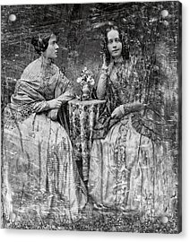 Two Young Antebellum Ladies Almost Lost To Time Acrylic Print by Daniel Hagerman