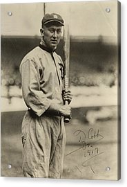 Ty Cobb  Poster Acrylic Print by Gianfranco Weiss