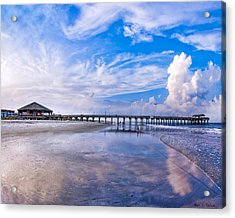 Tybee Island Pier On A Beautiful Afternoon Acrylic Print