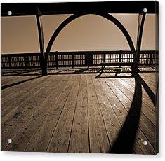 Tybee Island Pier Acrylic Print by Steven  Michael