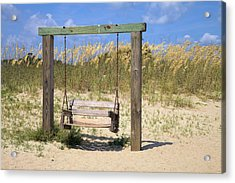 Acrylic Print featuring the photograph Tybee Island Swing by Gordon Elwell
