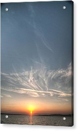 Tybee Sunset 2 Acrylic Print by Dem Wolfe