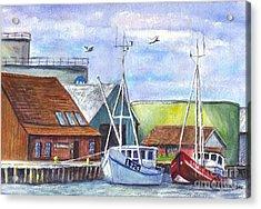 Tyboron Harbour In Denmark Acrylic Print by Carol Wisniewski