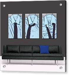 Tying One On - Men's Tie Art By Sharon Cummings Acrylic Print