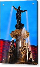 Tyler Davidson Fountain Acrylic Print by James Kirkikis