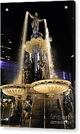 Fx9u-1250 Tyler Davidson Fountain Photo Acrylic Print