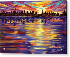 Acrylic Print featuring the painting Tyler's Sunrise by Tim Gilliland