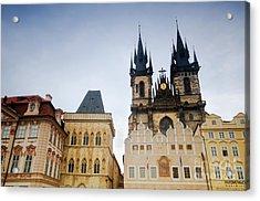Tyn Church In Prague Acrylic Print by Michal Bednarek
