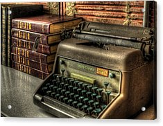 Typewriter Acrylic Print by David Morefield
