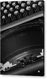 Typewriter  Acrylic Print by Falko Follert