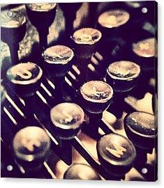 #typewriter #keyboard Acrylic Print