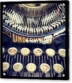 #typewriter #steampunk #writing Acrylic Print