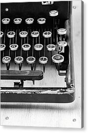 Typewriter Triptych Part 3 Acrylic Print by Edward Fielding