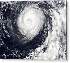 Typhoon 12w Acrylic Print by Nasa/science Photo Library
