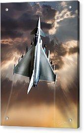 Typhoon Rising Acrylic Print