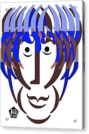 Typortraiture George Harrison Acrylic Print by Seth Weaver