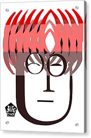 Typortraiture John Lennon Acrylic Print by Seth Weaver