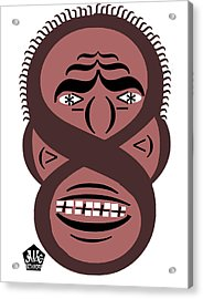 Typortraiture Obama Acrylic Print by Seth Weaver