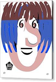 Typortraiture Ringo Starr Acrylic Print by Seth Weaver