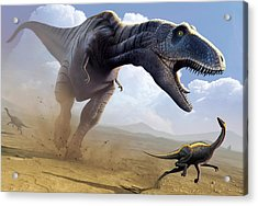 Tyrannosaurus Rex Hunting Acrylic Print