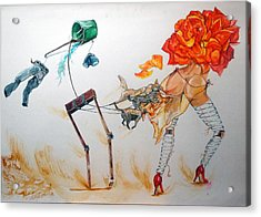 Tyrants Of Desire Acrylic Print by Lazaro Hurtado