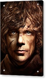 Acrylic Print featuring the painting Tyrion Lannister - Peter Dinklage Game Of Thrones Artwork 2 by Sheraz A
