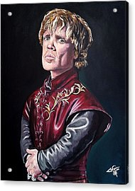 Tyrion Lannister Acrylic Print by Tom Carlton