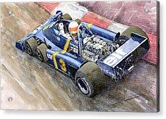 Tyrrell Ford Elf P34 F1 1976 Monaco Gp Jody Scheckter Acrylic Print