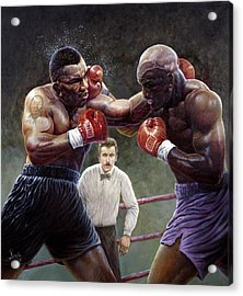 Tyson/holyfield Acrylic Print by Gregory Perillo