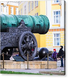 Tzar Cannon Of Moscow Kremlin - Square Acrylic Print
