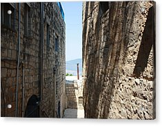 Acrylic Print featuring the photograph Tzfat Narrow Path by Julie Alison