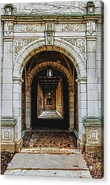 U Of M Law Acrylic Print by Pat Cook