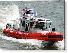 U. S. Coast Guard - Speed Acrylic Print by Janice Adomeit