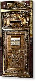 U S Mailbox Gilded Acrylic Print by Randall Weidner