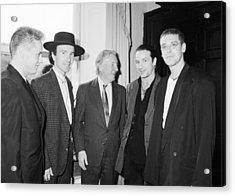 U2 Meet Taoiseach Charles Haughey Acrylic Print by Irish Photo Archive